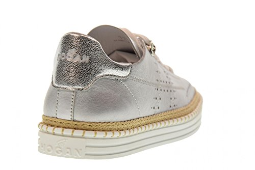 Silver Woman Shoes R260 Low Hogan HXW2600AD30IEUB200 Sneakers qAUz1wC