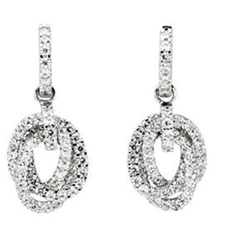 Charles and Clovard 14k White Gold Moissanite Earrings by The Men's Jewelry Store