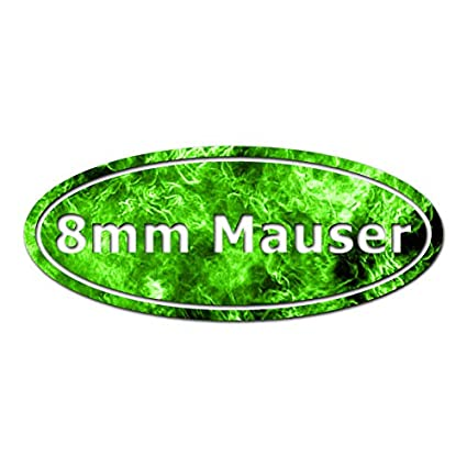 Ammo 8mm Mauser - Vinyl Decal Sticker - 12