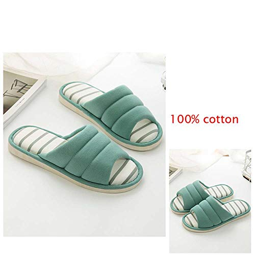 Foam Memory Toe Home Slides Green Open Indoor House Slippers Breathable 11 Outdoor 7UdUwqR