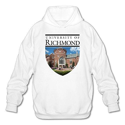 (Lonmir Men's University Of Richmond Long Sleeve Hoodie S White)