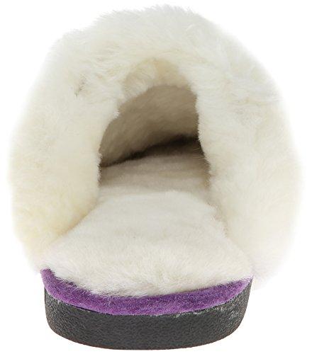 Old Friend Womens 441169 Scuff Sheepskin Slipper Purple hqHKD