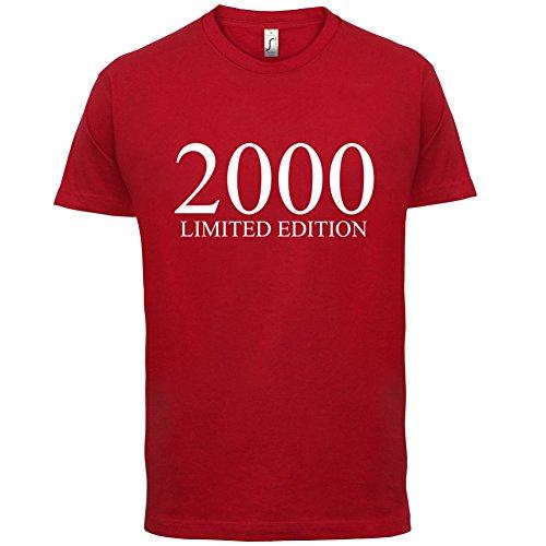 2000 Limierte Auflage / Limited Edition - 17. Geburtstag - Herren T-Shirt - Rot - XXL