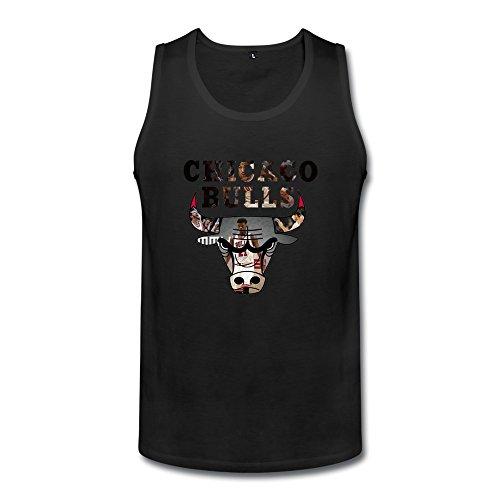 NBA Chicago Bulls 2015 Mens Tank Tops Medium Black