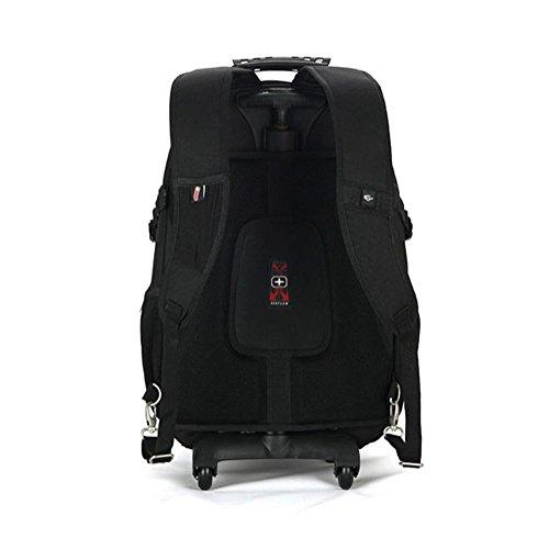 Ruten Rucksack Koffer Ultraleicht Vielseitig Oxford Tuch Rucksäcke Für Reisen Geschäft Tagesrucksack mit 2 Leises Rad