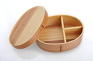 vovii round wood japanese lunch box bento box kitchen dining. Black Bedroom Furniture Sets. Home Design Ideas