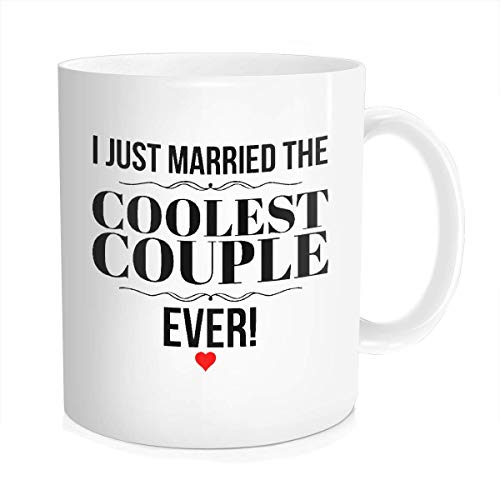 Wedding Officiant Mug - I Just Married The Coolest Couple Ever - Funny Gift Mug for Reverend | Pastor | Minister | Priest | Preacher - They Will Laugh and Love IT! - 11 oz Ceramic
