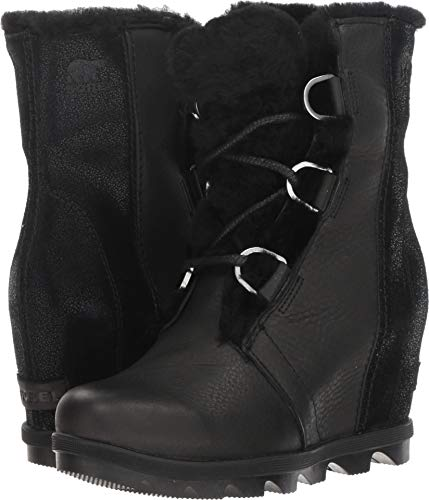 - Sorel Women's Joan of Arctic Wedge II Shearling Boots, Black, 10 M US