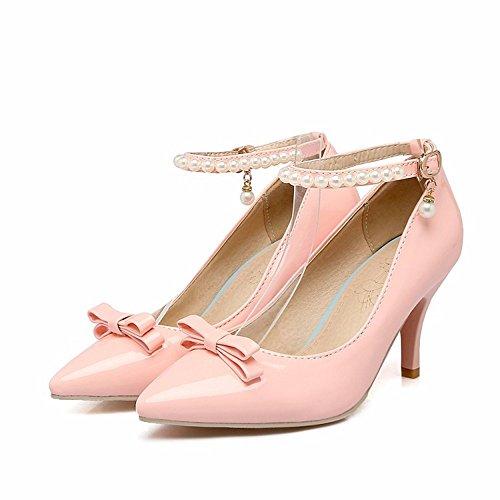 Bögen, Damenschuhe, Gebördelte Stifte, High Heels, flacher, Damen, Schuhe für große frauen, blau, 39