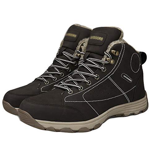 Winter Antideslizante Boots Suela Botas Cotton De Shoes Plano Cortas Keep Con Snow Tacón Mens Help High Coffeecolor Warm Goma IwqnxBFgE