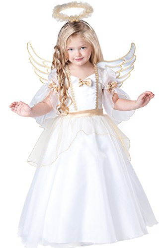 InCharacter Baby Girl's Angel Costume, White, -