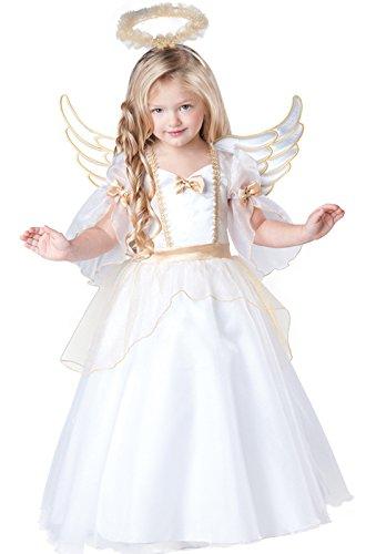 InCharacter Baby Girl's Angel Costume, White, 4T ()