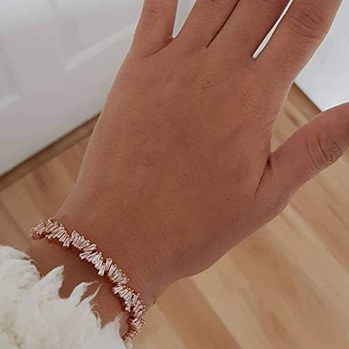 Handmade Irregular Fashion Exquisite Personality Square Drill Open Bracelet - Precious Mothers Semi Personalized Bracelet