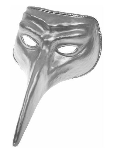 Beak Mask (Disguise Costumes Silver Venetian Mask, Adult)