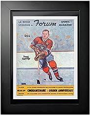 Montreal Canadiens Program Cover - Forum Sports Magazine Doug Harvey 1958