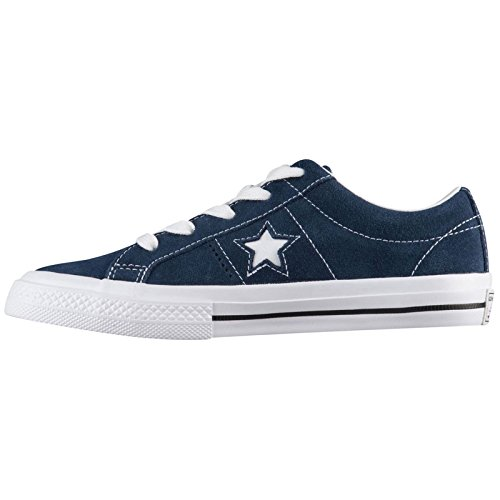 Youth Suede Converse One Star Navy Ox White Trainers d6qR1U