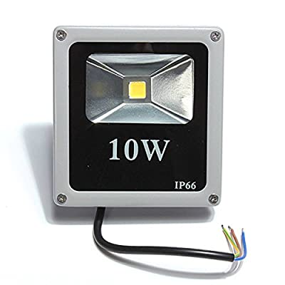 KINGSO 10W Outdoor LED Flood Lights 100W Halogen Bulb Equivalent Waterproof 900-1000lm Security Floodlight Gray Case Bright Slim Spotlight AC 85-265V