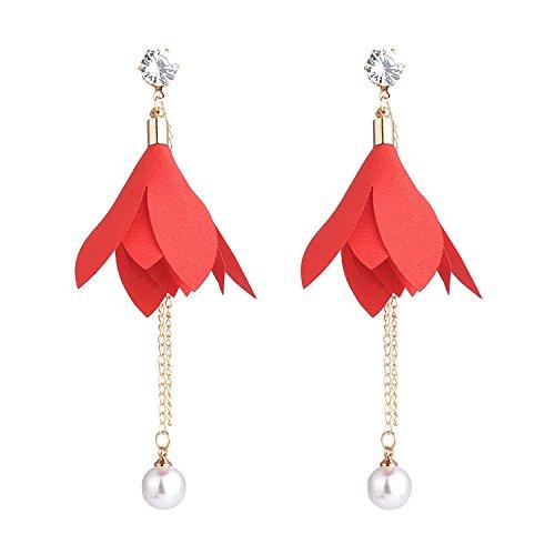 dc2ddbc8786b Venta caliente 2018 Dana Carrie Aretes elegante temperamento deja la  perla-su oído circón la