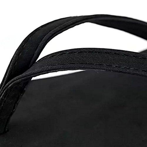 Baymate Chanclas Zapatos De La Playa Antideslizante Planas Sandalias Para Mujer Negro