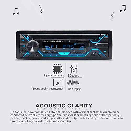 FidgetFidget MP3 Player Car Stereo Radio Audio in-Dash USB FM AUX Bluetooth Wireless Kit Set
