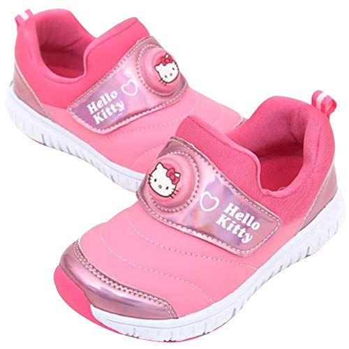 Joah Store Girl's Hello Kitty Light Up Pink Sneakers Anti-Skid Shoes (Parallel Import/Generic Product) (12 M US Little Kid)