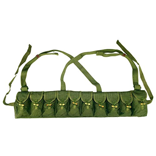 HOME DAILY SALE Chinese Original Surplus SKS Rifle 7.62x39 10 Cells Type 56 Semi Chest Rig for Bandoleer Bandolier for Cartridge Cartridge ()