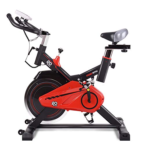 GOPLUS Indoor Cycling Bike Stationary, Quite Belt with 30lbs Flywheel, Heart Pulse Sensors and LCD Display, Professional Exercise Bike for Home and Gym Use (30lbs Flywheel) Superbuy