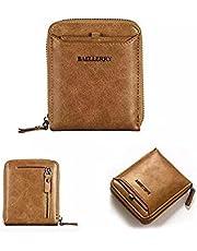 محفظة جلدية بلون بني فاتح للرجال من بايليري - محافظ بسوستة كاملة
