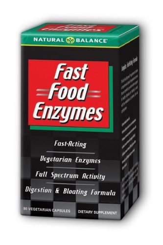 Natural Balance Fast Food Enzymes, 90-Capsules