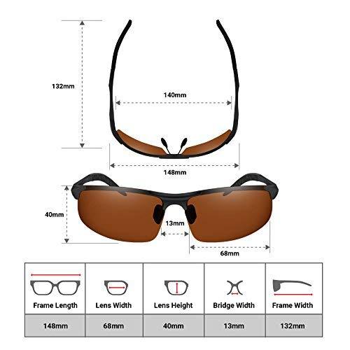 300fae3dc2c9 BLUPOND Polarized Sports Sunglasses for Men - Daytime Anti-Glare Copper TAC  Lens - Metal