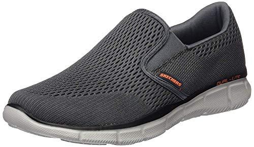 Skechers Sport Men's Equalizer Double Play Slip-On Loafer,Charcoal/Orange,7.5 W