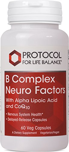 Protocol For Life Balance - B Complex Neuro Factors - with Alpha Lipoic Acid & CoQ10 to Support Nervous System Health, Proper Metabolism of Carbohydrates, Fats, and Proteins - 60 ()