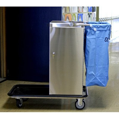 Geerpres-3651-Escort-Stainless-Steel-Housekeeping-Cart-with-Locking-Door-38-Length-x-20-14-Width-x-40-Height