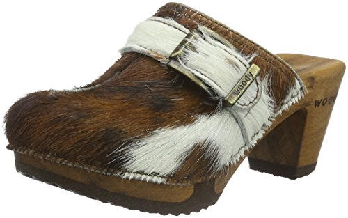 Woody Women's Claudia Clogs Multicolour (Natur 009) 7jwGThc0X1