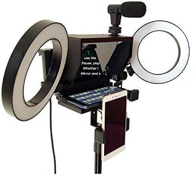 Teleprompter Inscriber Portátil Teléfono Móvil Teleprompter Artefacto Video con Control Remoto para Teléfono Y Vídeo DSLR para Transmisión En Live, Entrevista