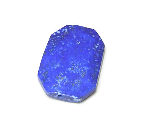 Lapis Pendant Bead - Natural Stone Pendant - Druzy Pendant - Gemstone Pendant Bead - Faceted - Druzy Connector - 35mm x 40mm