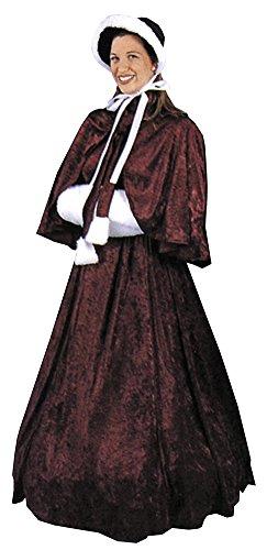 Adult-Costume Dickens Dress Halloween Costume - Adult 8-10 (Dickens Dress)