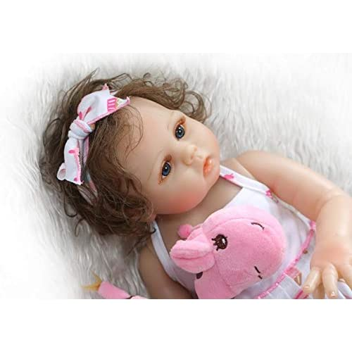 "19/"" Full Body Vinyl Silicone Reborn Girl Baby Doll Lifelike Children/'s Toys Bath"