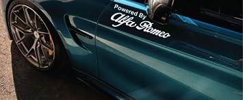 "Powered by Alfa Romeo Racing Decal Sticker 4C giulia stelvio giulietta 12/"" Pair"
