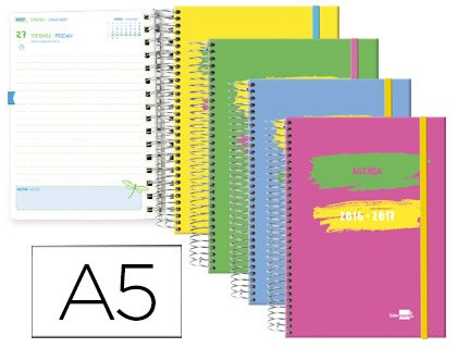 Amazon.com : liderpapel lp77 - Pack of 6 School Agendas ...