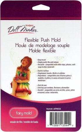 Bulk Buy: Polyform Sculpey III Doll Maker Flexible Push Mold-Fairy (2-Pack)