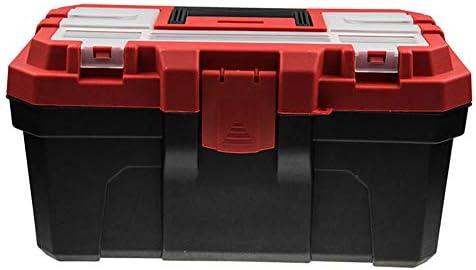 工具収納ボックス、家庭用プラスチック工具箱 プラスチック素材、大容量、二層構造、強力な支持力