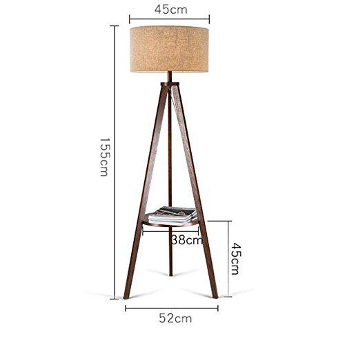 LIURONG Stehleuchte, Wohnzimmer Einfache moderne Nordic Schlafzimmer Grünikale Tischlampe Tischlampe Tischlampe American Creative Holz Europäische Couchtisch Lichter (Farbe  Schwarz Walnut  Flachs) (Farbe   C) B07DZVFG7C | Erlesene Materialien  807ab6