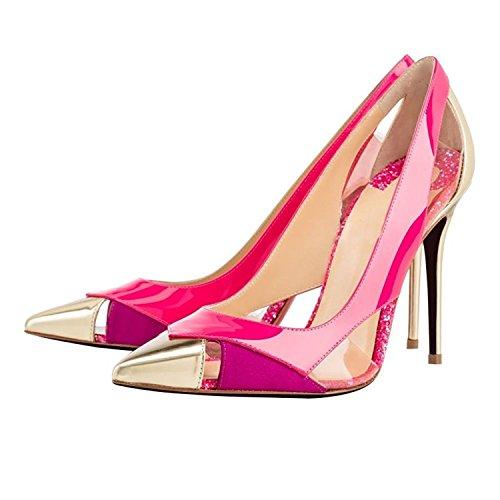Kebinai Women's High Heel Glitter Pumps Pink13 B(M) (Womens Prophecy Sport Shoe)