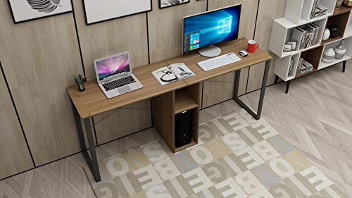 SogesHome Large Double Workstation Desk 2-Person Computer Desk 78inches Writing Desk Home Office Desk with Storage HZ011-200-OK-SH (For Two Table Computer)