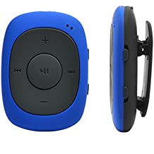 AGPtEK G02 MP3 player 8GB portable Clipplayer music with FM radio supporting MP3, WMA WAV, blue