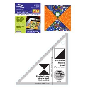 Creative Grids Charming 5 Square Half-Square/Quarter-Square Triangle Template: Template 5
