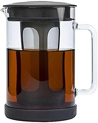 Amazon Com Primula Pace Cold Brew Iced Coffee Maker With Durable Glass Pitcher And Airtight Lid Dishwasher Safe Perfect 6 Cup Size 1 6 Qt Kitchen Dining