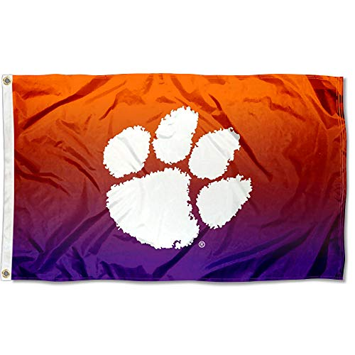 (College Flags and Banners Co. Clemson Tigers Two Tone Gradient)