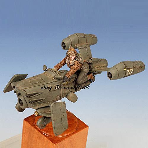 FidgetGear Unpainted 1/35 Resin Kit Female Aviator & Carrier Garage Kit Figure Model Statue